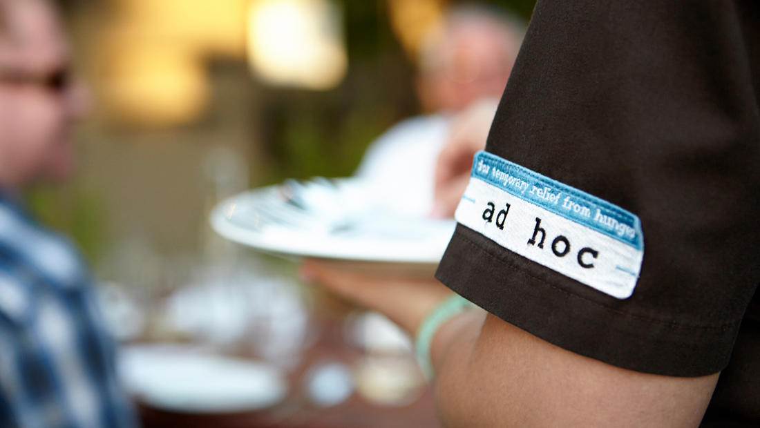 Ad Hoc logo employee uniform