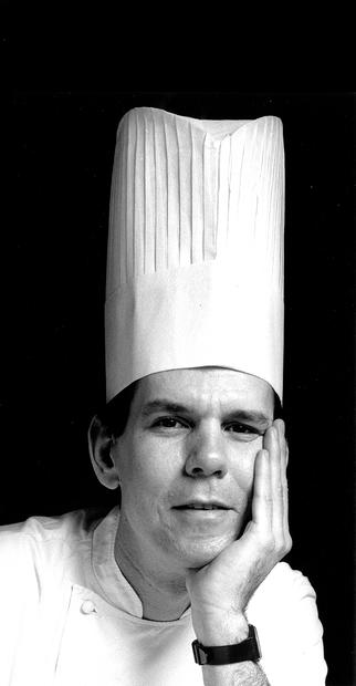 Thomas Keller wearing chef hat