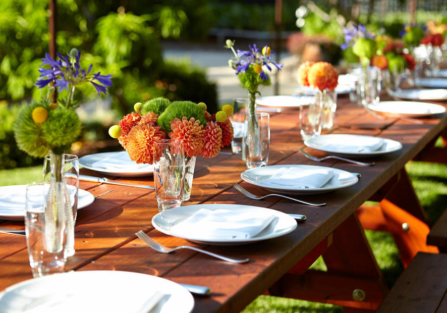 Ad Hoc Private Dining Outdoor Table Setting