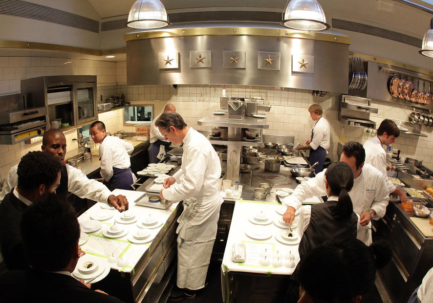 Thomas Keller in The French Laundry Kitchen