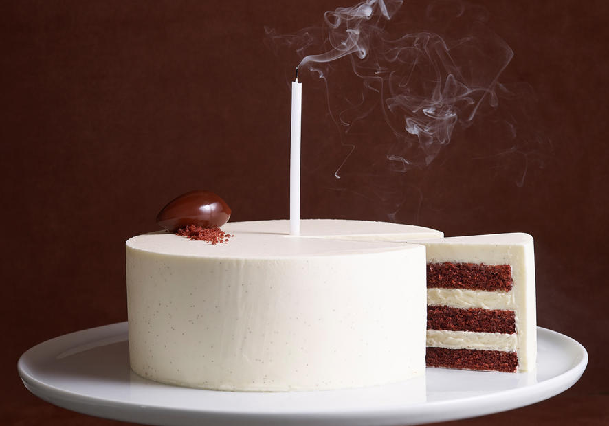 Bouchon Bakery red velvet birthday cake