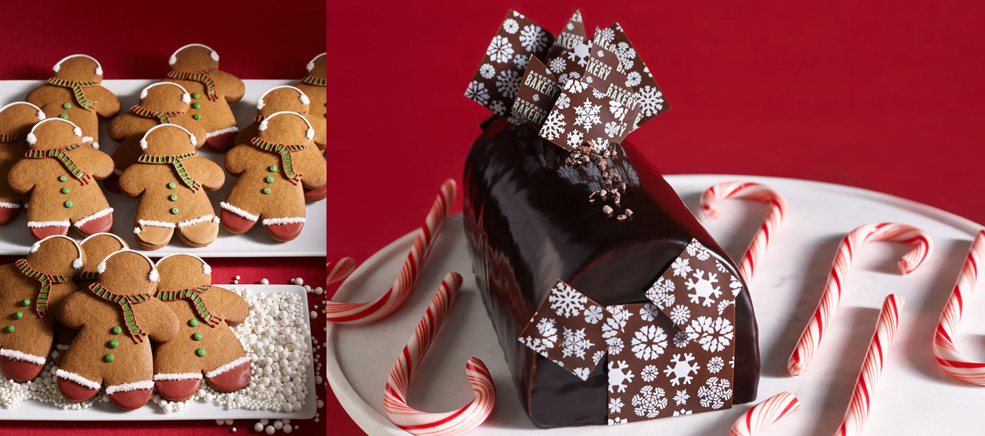 thomas keller, holidays, christmas, hannukah, gingerbread cookies, buche de noel, yule log, bouchon bakery, holiday catering, office parties, office catering, holiday gifts, christmas gifts, dessert, catering, order online, peppermint bark